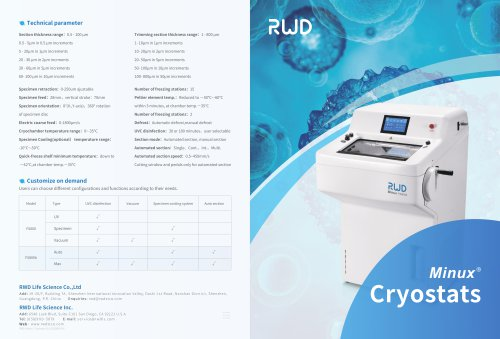 Introduction To RWD Automatic Minux® FS800A Cryostats