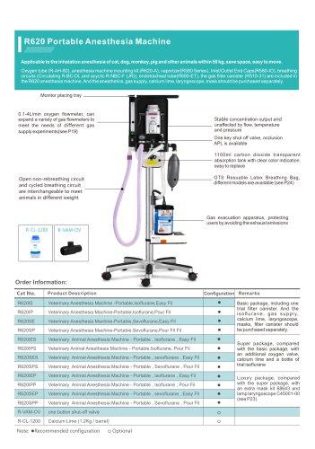 RWD Veterinary anesthesia machine R620-S1