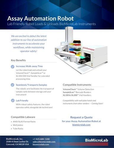 Assay Automation Robot