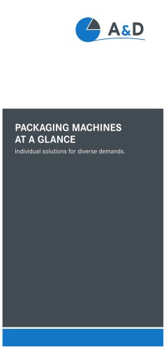 PACKAGING MACHINES AT A GLANCE