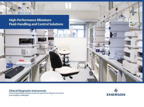 High-Performance Miniature Fluid-Handling and Control Solutions