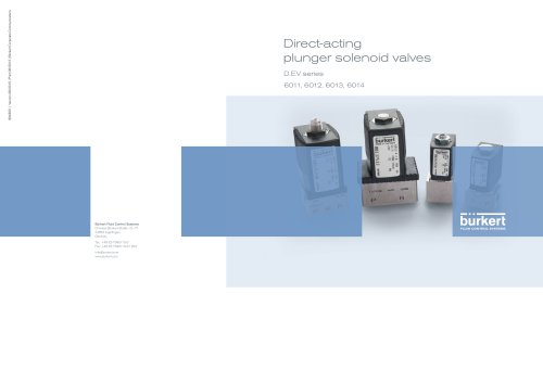 Direct-acting plunger solenoid valves