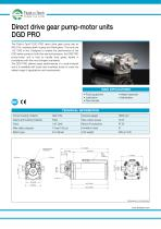 Gear Pump-Motor Unit DGD Pro series