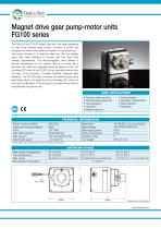 Gear Pump-Motor Unit FG100 series