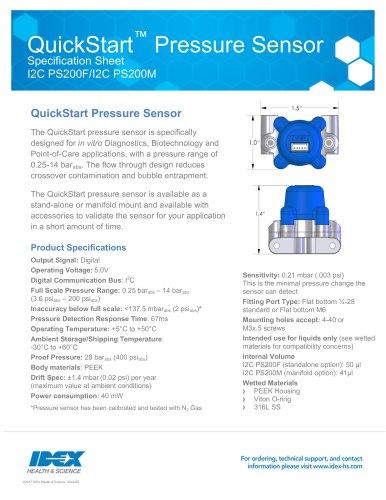 QuickStart™ Pressure Sensor