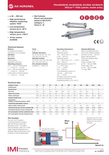 ISOLine™ profile cylinder, 40mm diameter, 100mm stroke, ISO15552