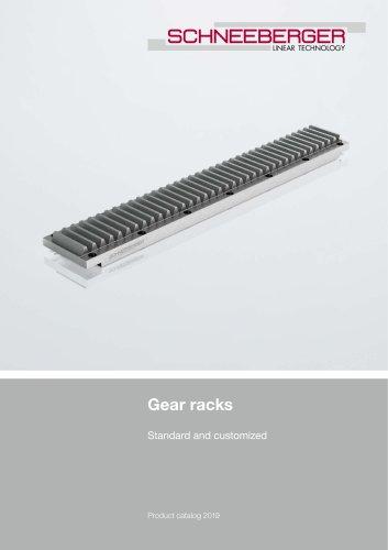 Gear racks Standard and customized