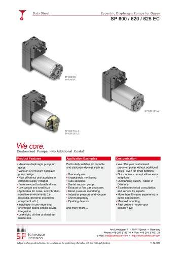 SP 600 / 620 / 625 EC