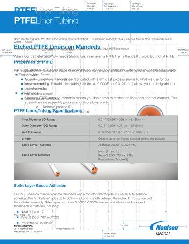 PTFE Liner Tubing