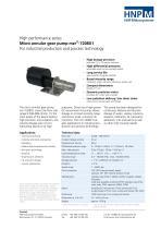 Micro annular gear pump mzr-7208X1 - 1