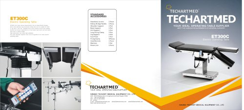 ET300C,Universal operating table / electric / on casters / Trendelenburg,TECHARTMED