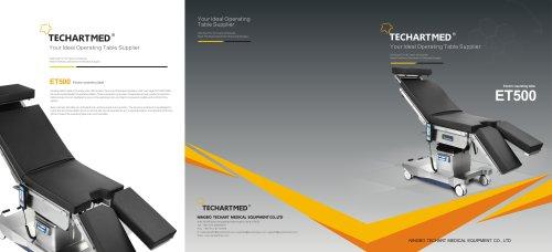 ET500,Universal operating table / electric / on casters / Trendelenburg,TECHARTMED