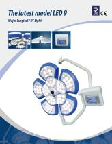 LED9,LED surgical light / ceiling-mounted / with control panel,with vedio system,TECHARTMED