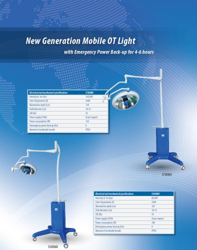 Mobile Lamp,LED surgical light / mobile / battery-powered,TECHARTMED