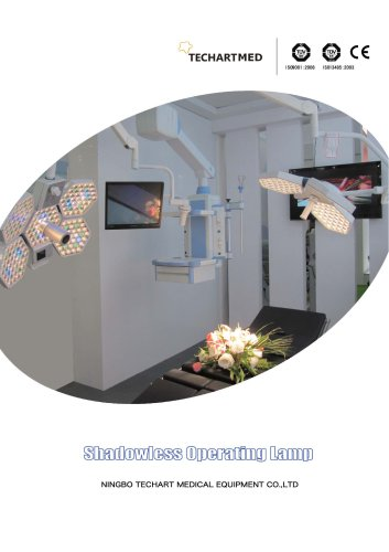 operating lamp,LED surgical light / ceiling-mounted / with control panel,TECHARTMED