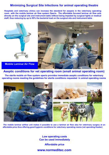 Aseptic conditons for animal operating rooms
