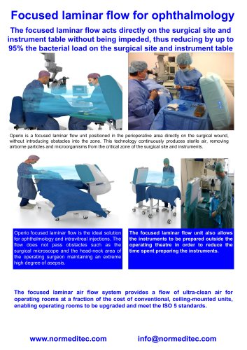 Laminar air flow for operating room and operating theaters