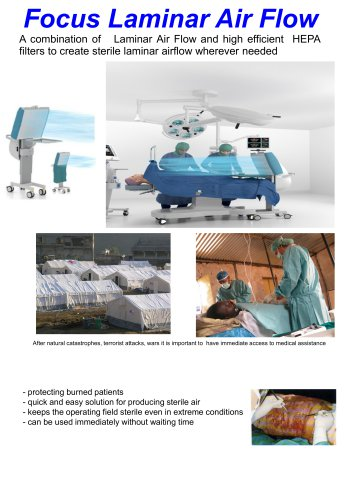portable laminar air flow units operating theatre and field hospitals
