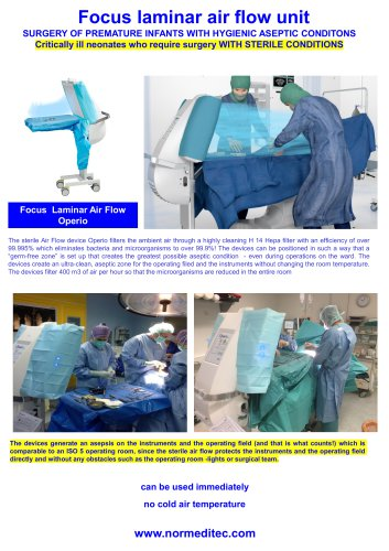 SURGERY OF PREMATURE INFANTS WITH HYGIENIC ASEPTIC CONDITONS
