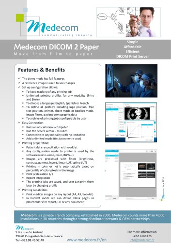 Dicom2Paper - Medical Images Printing Software
