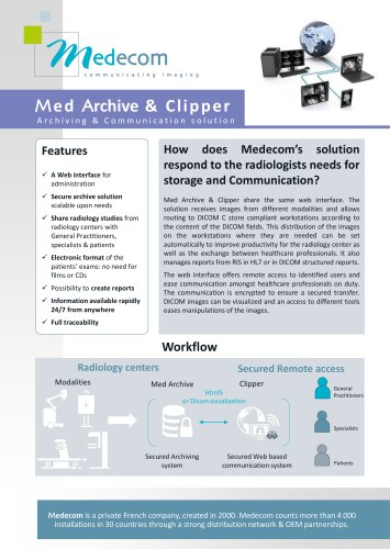 Med Archive & Clipper - Archiving & Communication Software
