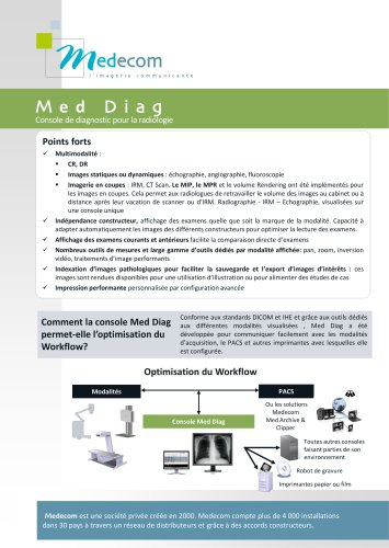 Med Diag - Diagnostic Software for Digital Radiology