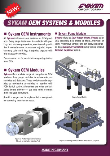 SYKAM OEM SYSTEMS & MODULES