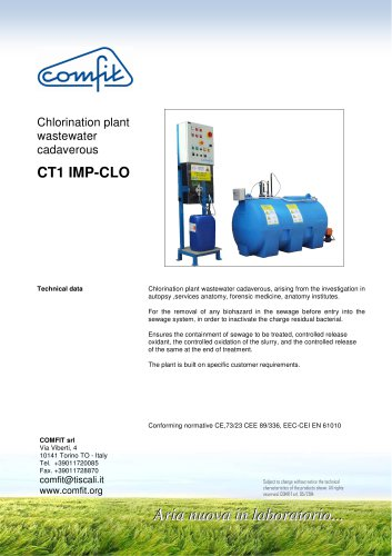 Chlorination plant wastewater cadaverous CT1 IMP-CLO