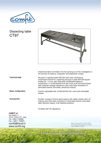 CT97 Dissecting Table