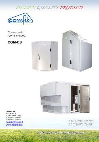 Custom cold rooms shaped.