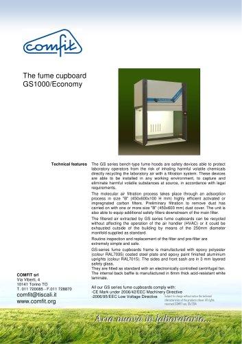 The fume cupboard GS 1000/Economy