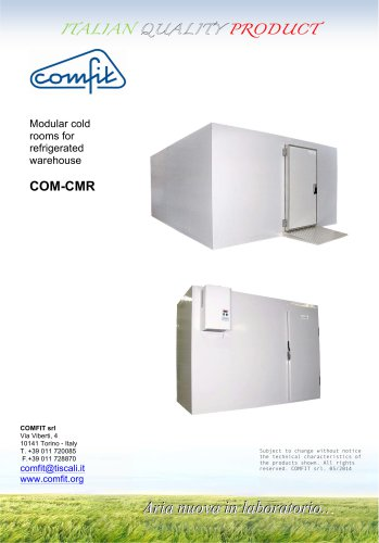 Modular cold rooms for refrigerated warehouse - comfit - PDF
