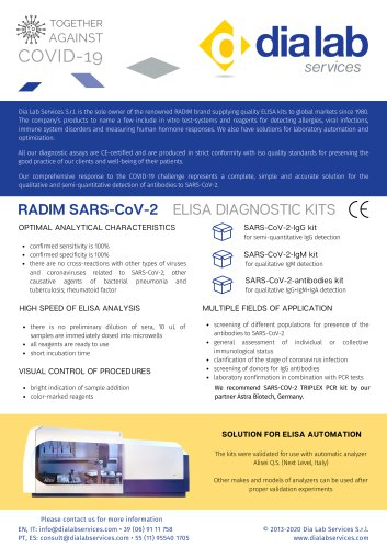 SARS-Covid19 Elisa Diagnostic Kits