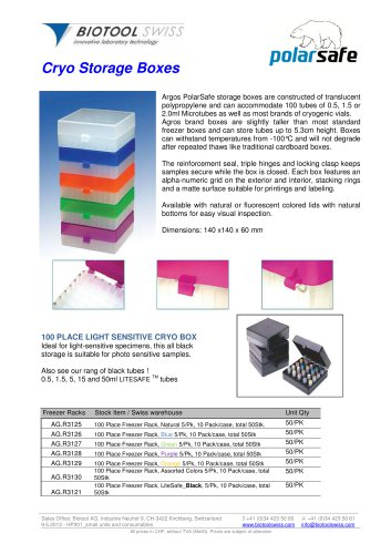 Cryo Storage Boxes