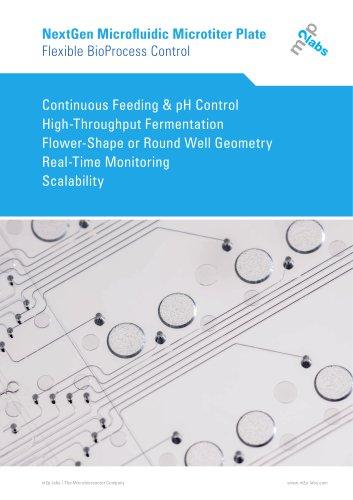 NextGen Microfluidic Microtiter Plate Flexible BioProcess Control