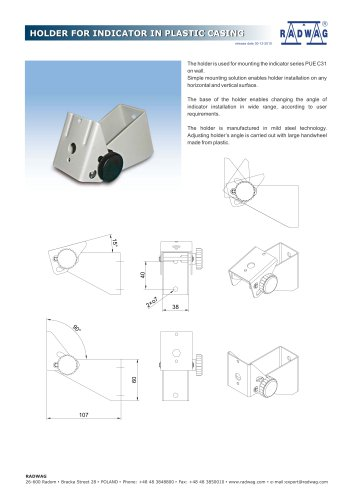 HOLDER FOR INDICATOR IN PLASTIC CASING HOLDER FOR INDICATOR IN PLASTIC CASING