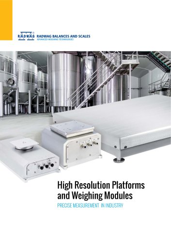 HRP PLATFORMS AND WEIGHING MODULES