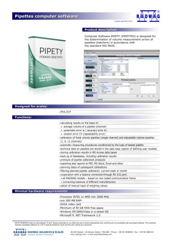 Pipettes computer software