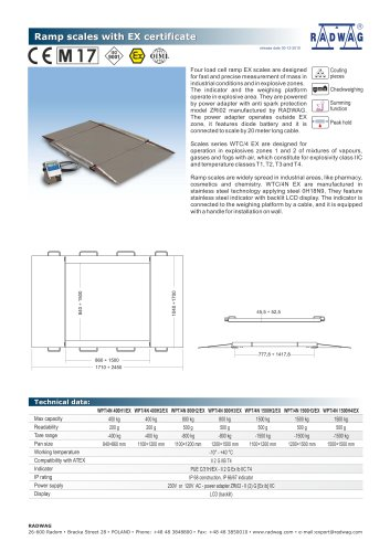 Ramp scales with EX certificate