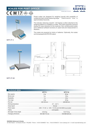 SCALES FOR POST OFFICE