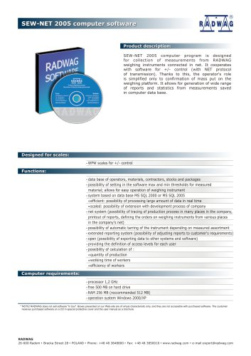 SEW-NET 2005 computer software