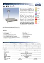 WATERPROOF PLATFORM SCALES WPT/HR - 1