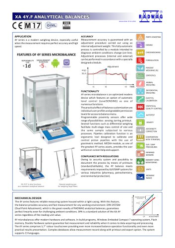 XA 4Y.F ANALYTICAL BALANCES