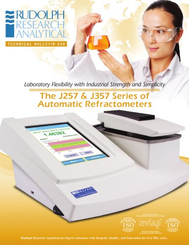 The J257 & J357 Series of Automatic Refractometers