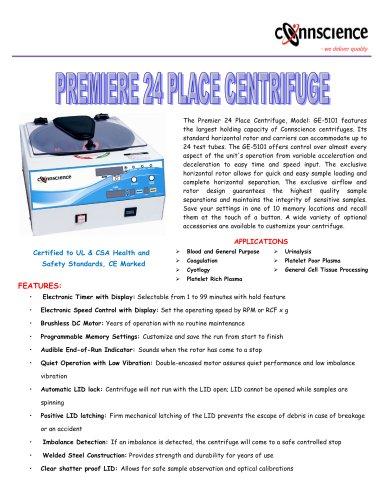 Premiere 24- Place Centrifuge