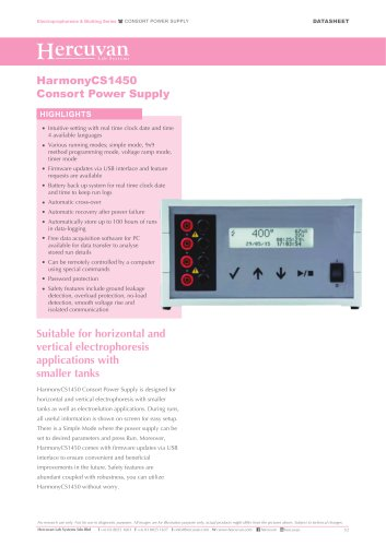 HarmonyCS1450 Consort Power Supply