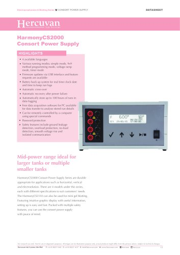 HarmonyCS2000 Consort Power Supply