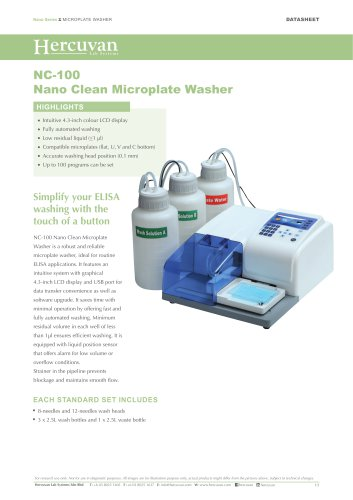 NC-100 Nano Clean Microplate Washer