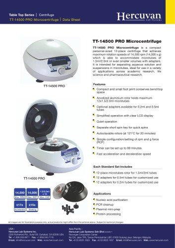 TT-14500 PRO Microcentrifuge