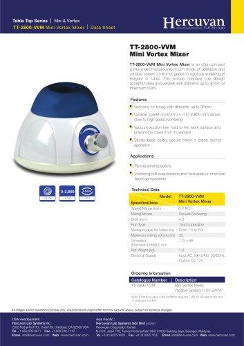 TT-2800-VVM Mini Vortex Mixer